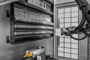 Bystronic Xpert press brake with robotic tool changer.
