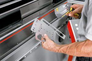 Reducing set-up time at the Bystronic press brake
